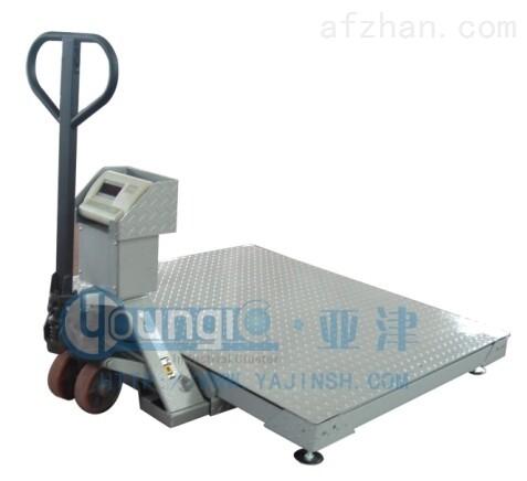 上海亚津带叉车移动式地磅用途