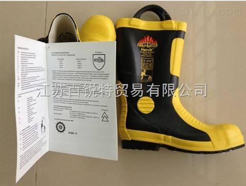 现货供应新标准2014款消防*靴,钢板抗刺穿防护靴