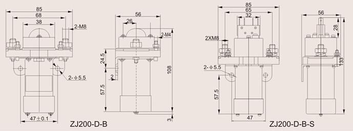 zj100/200-d-b直流电磁接触器