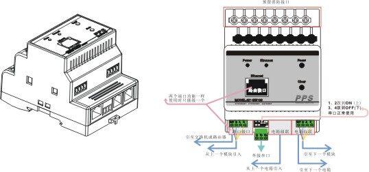 免编程智能灯光照明控制系统网关中控主机总线式控制苹果安卓控制